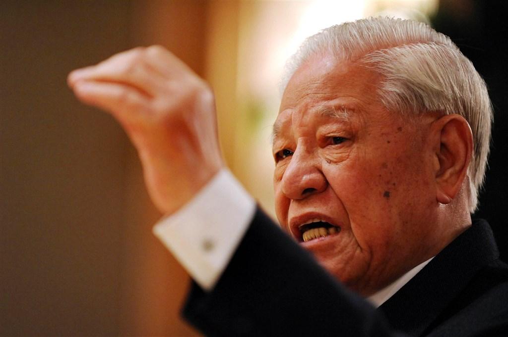 前總統李登輝30日病逝,享耆壽98歲。(中央社檔案照片)