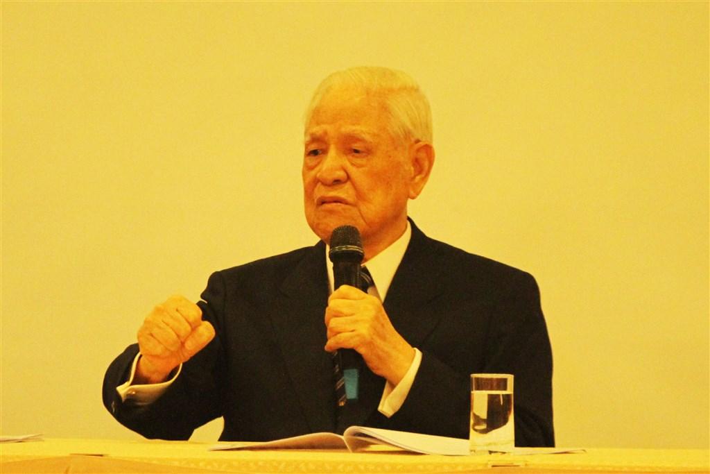 前總統李登輝今晚辭世,享耆壽98歲。(中央社檔案照片)