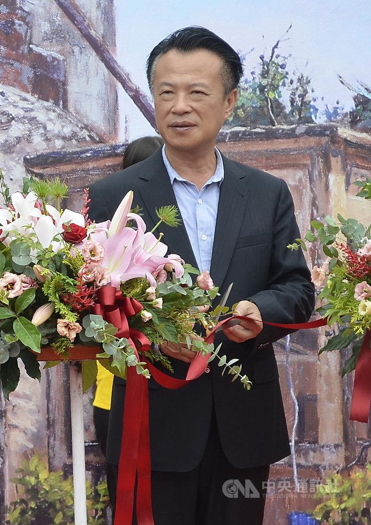 前總統李登輝30日晚間辭世,嘉義縣長翁章梁(圖)31日表示,李登輝在台灣民主化及自由化進程是極有貢獻的。中央社記者蔡智明攝 109年7月31日