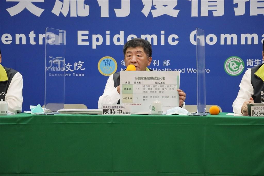 日本武漢肺炎疫情嚴峻,指揮中心5日宣布,日本從中低風險國家中移出。(中央流行疫情指揮中心提供)