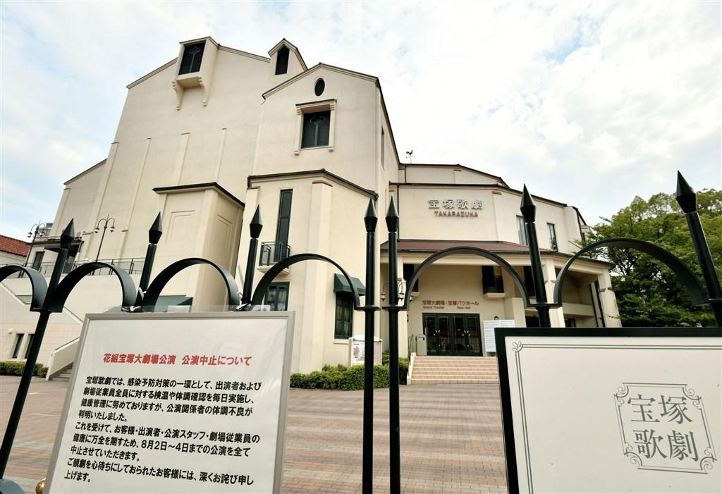 日本兵庫縣政府6日表示,寶塚歌劇團的演員與工作人員已有11人確診武漢肺炎,認定為群聚感染。(共同社)