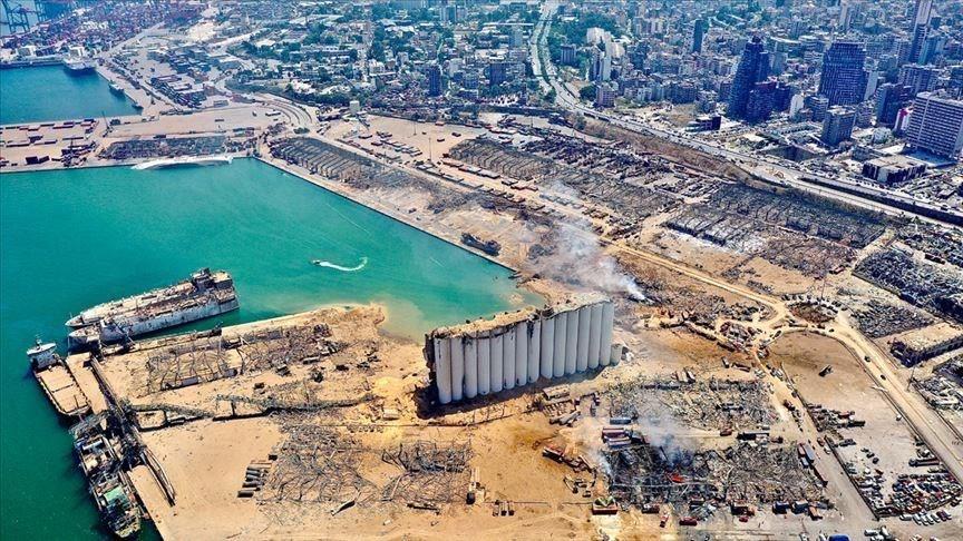 黎巴嫩貝魯特港區4日發生大爆炸造成135人身亡、超過4000人受傷,該國已進入為期兩週的緊急狀態。(安納杜魯新聞社)