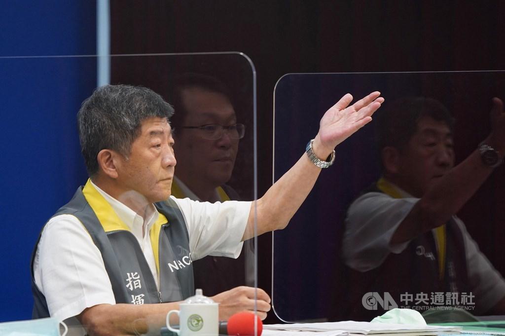 彰化抗體檢驗研究初步結果曝光,指出台灣恐有隱藏感染者。指揮中心指揮官陳時中表示,目前尚未看到完整報告。中央社記者徐肇昌攝 109年8月9日