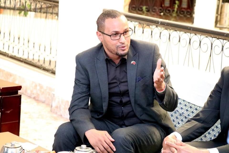 索馬利蘭駐台代表穆姆德推文指出,他7日晚間安全抵台,外交部已熱情接待。(圖取自twitter.com/mohamed_hagi)