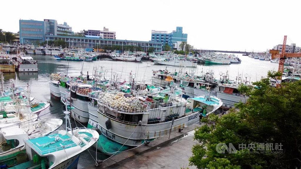 輕颱米克拉來襲,中央氣象局預估11日清晨風雨增強,東港漁港10日已停滿避風雨的漁船,但屏東11日清晨風雨不大。(林漢丑提供)中央社記者郭芷瑄傳真 109年8月11日