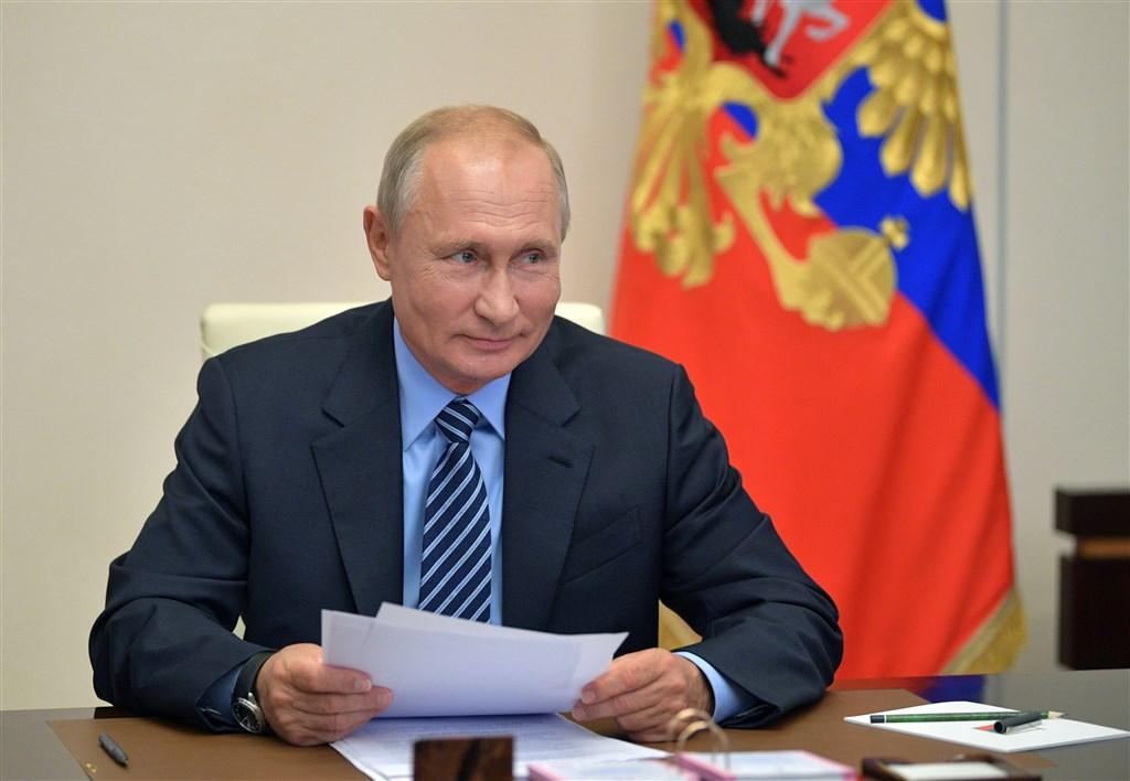 俄羅斯總統蒲亭11日宣布,俄國已研發出第一支能讓接種者對武漢肺炎病毒「持續免疫」的疫苗。(圖取自twitter.com/KremlinRussia_E)