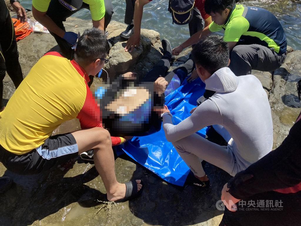 新北市一名43歲蘇姓男子13日前往基隆市潮境公園海域參加潛水課程卻不幸溺水,經送醫急救仍宣告不治,確切事發過程仍有待警方調查釐清。(讀者提供)中央社記者王朝鈺傳真 109年8月13日