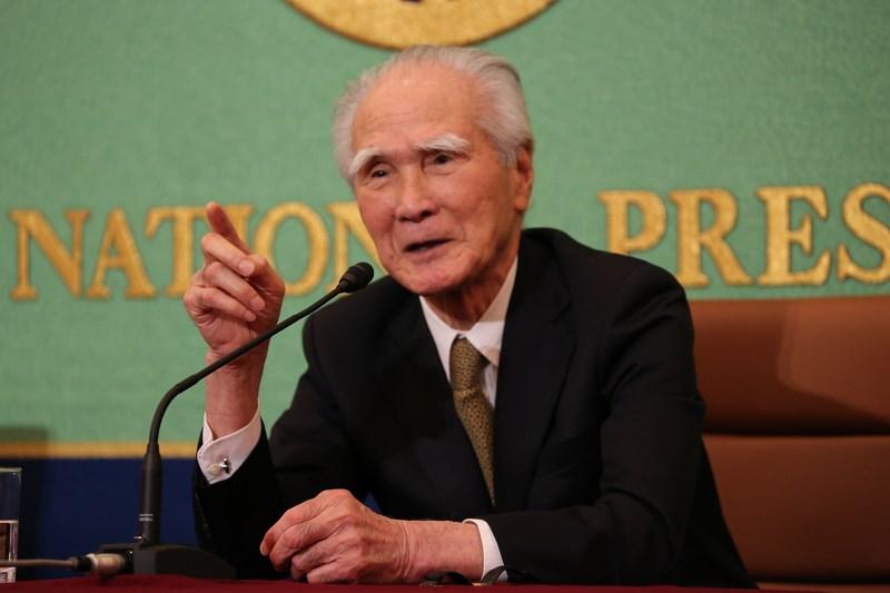 日本前首相村山富市在二次大戰結束屆滿75週年發表談話再度強調,要說日本發動戰爭不是侵略,無法被人接受。(中央社檔案照片)