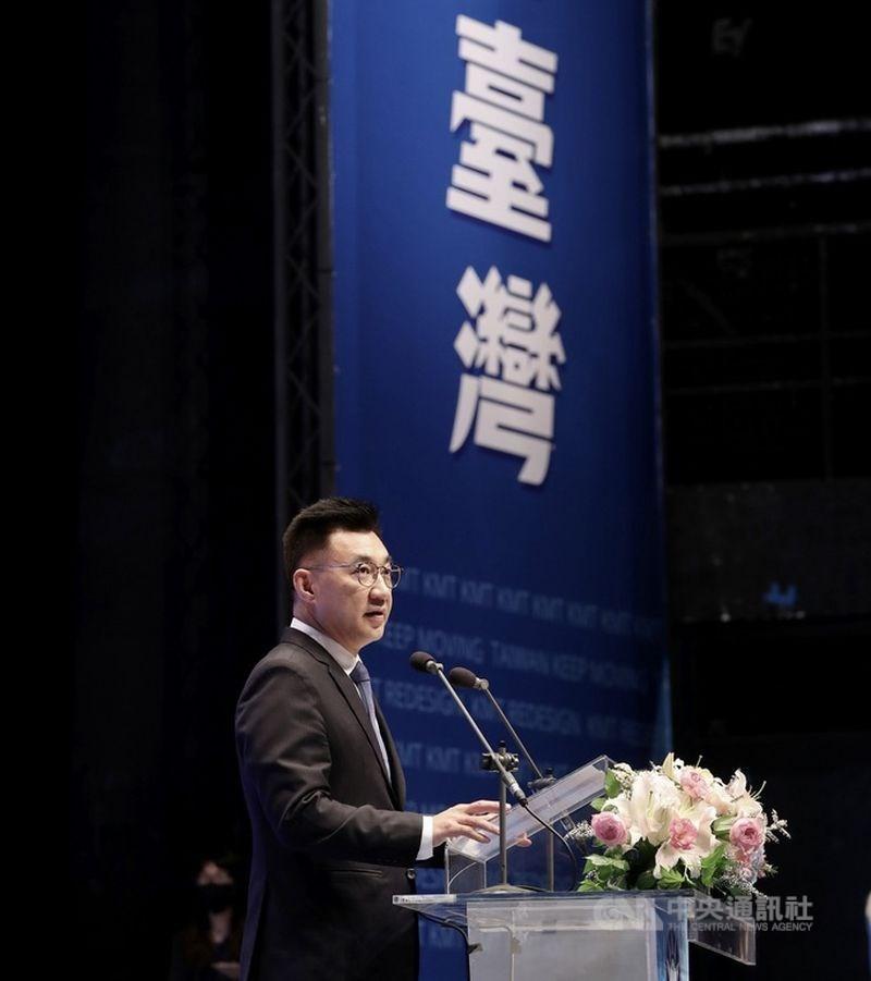 中國央視旗下「央視頻」稱前立法院長王金平參加海峽論壇是求和一事,引發國民黨內反彈,黨主席江啟臣(圖)也態度強硬要求陸方道歉。(中央社檔案照片)