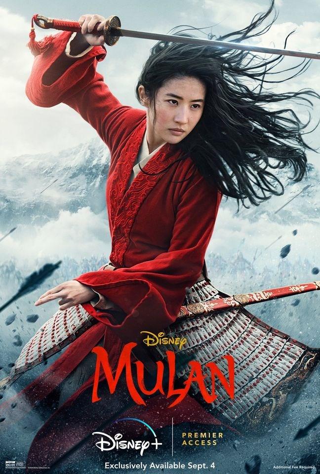 迪士尼真人電影「花木蘭」因香港、新疆議題在境外引發抵制,而在中國上映兩天,累計票房雖超過人民幣1.12億元,網上卻罵聲一片。(圖取自facebook.com/WaltDisneyMulan)