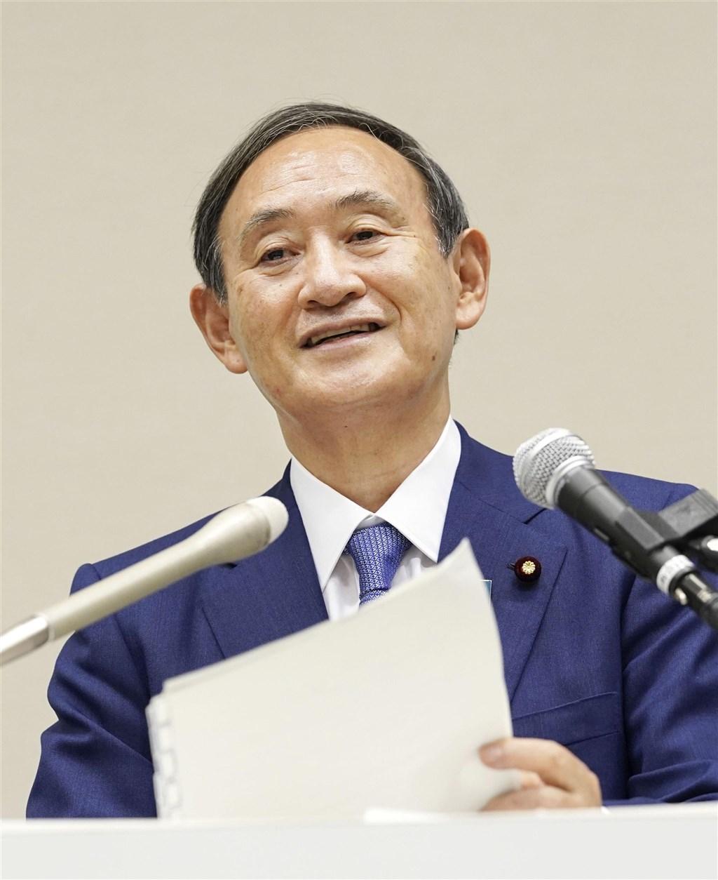 日本內閣官房長官菅義偉14日在執政黨自由民主黨總裁選舉中勝出,將出任首相。(共同社)