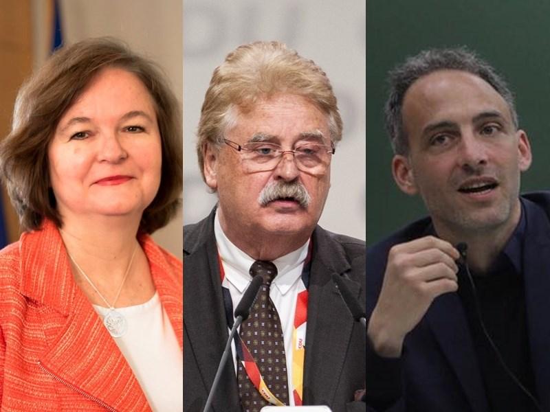歐洲議會安全與國防小組委員會主席洛瓦索(左)、德國前歐洲議會外交委員會主席布洛克(中)、歐洲議會人權小組委員會副主席格魯克斯曼(右)等9位歐洲議員與專家14日聯合投書法國「世界報」,呼籲歐洲加強支持受威脅的民主台灣。(左圖取自facebook.com/NathalieLoiseauEurope,中圖取自twitter.com/elmarbrok_mep,右圖取自facebook.com/raphael.glucksmann)