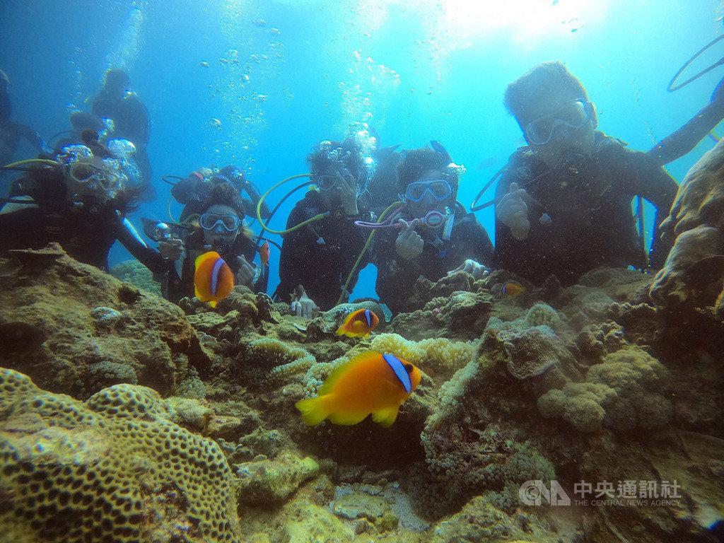 大同大學工設系團隊接受綠島鄉公所邀約,將協助設計新設的海底郵筒。團隊前往綠島探路,進行潛水體驗、田野調查及設計發想。(大同大學提供)中央社記者許秩維傳真  109年9月15日
