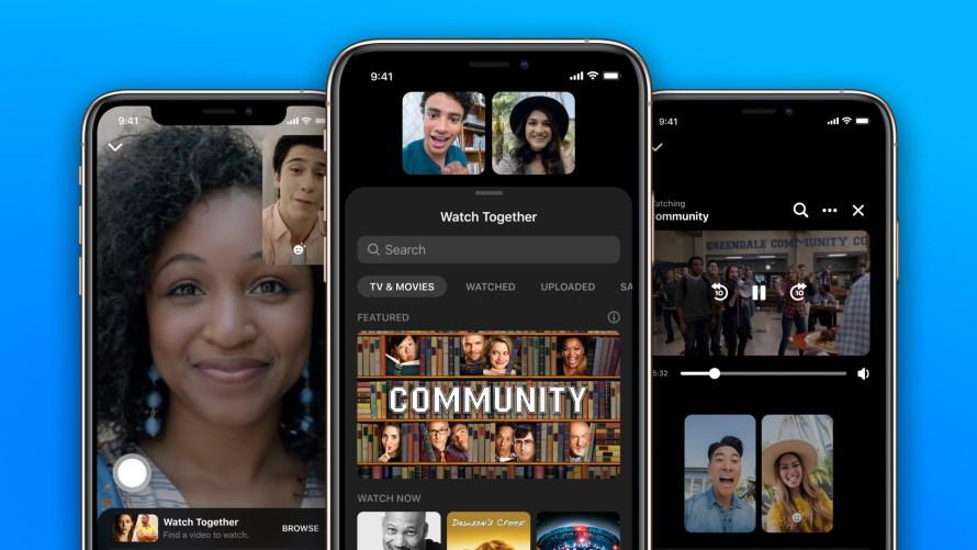 Facebook在全球的即時通訊平台Messenger推出「一起觀看」的免費功能。(圖取自Facebook網頁about.fb.com)