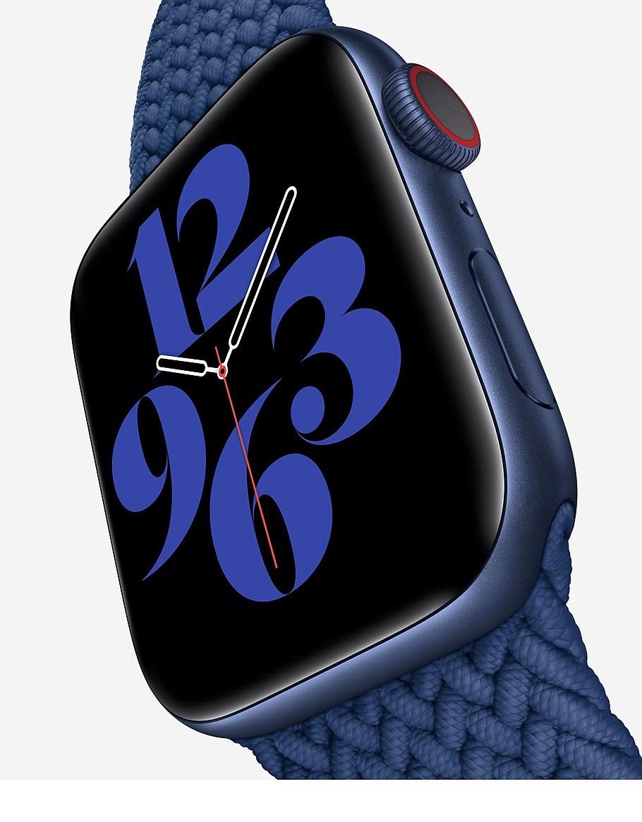 蘋果新Apple Watch新增偵測用戶血氧功能。(圖取自apple.com/tw)