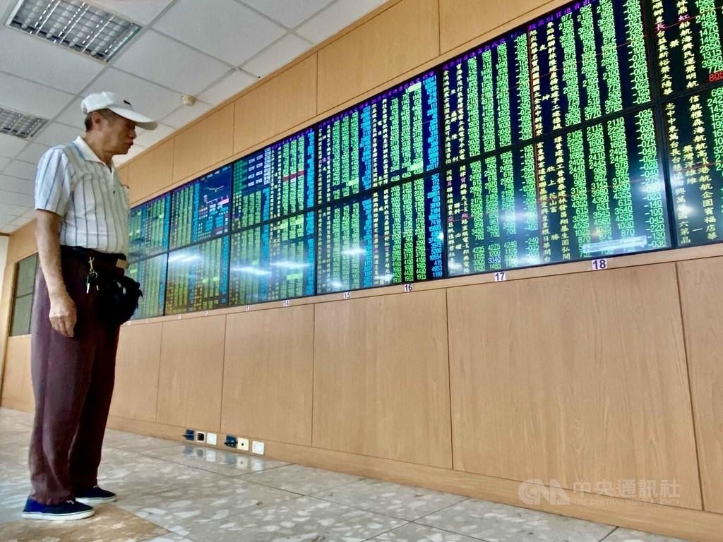 台股17日開低走低,收盤跌104.02點,為12872.74點。(中央社檔案照片)