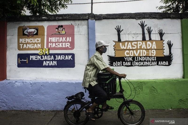 印尼19日通報境內新增4168起武漢肺炎確診病例,創下單日通報數最高紀錄。(安塔拉通訊社)