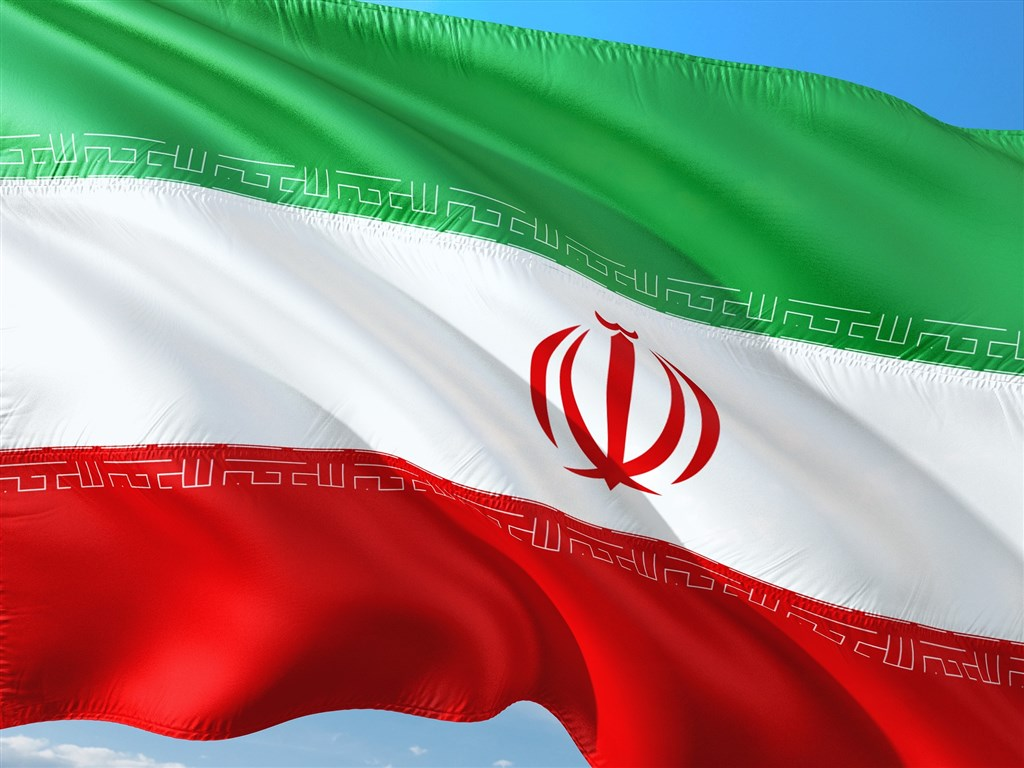 美國單方面宣布將重行實施聯合國對伊朗的制裁後,伊朗20日呼籲全球其他國家團結反對美國。圖為伊朗國旗。(圖取自Pixabay圖庫)