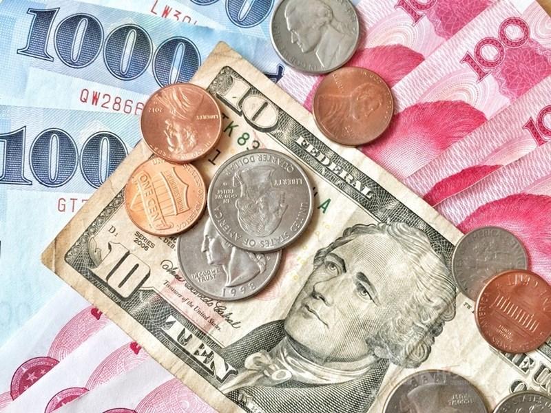 新台幣兌美元23日中午暫收29.100元,升1.02角。(中央社檔案照片)