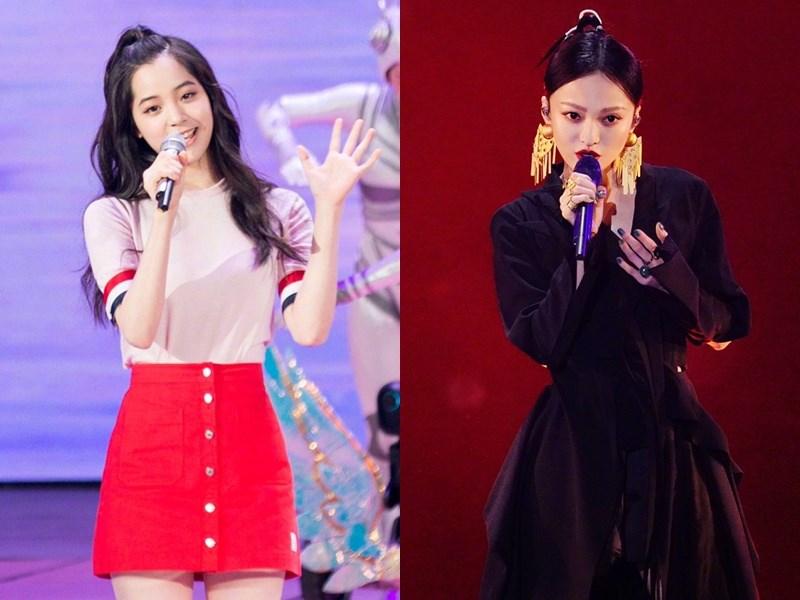 藝人歐陽娜娜(左)、張韶涵(右)傳將在中國國慶晚會獻唱「我的祖國」等歌曲。(左圖取自weibo.com/u/2687827715,右圖取自weibo.com/zhangshaohan)