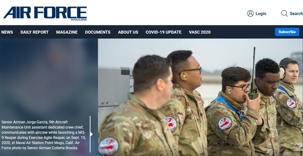 美國媒體披露,一支MQ-9死神無人機部隊近日參加首個針對太平洋的演訓,值得注意的是,飛行員的臂章上可見明顯的紅色中國地圖。(圖取自空軍雜誌網頁airforcemag.com)