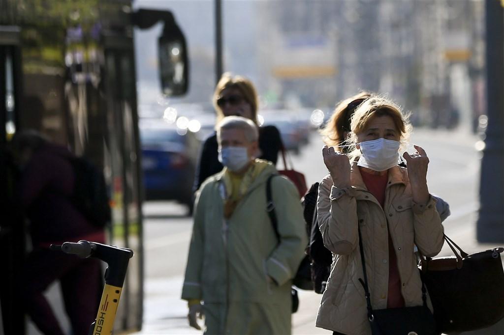 俄羅斯染疫總數達123萬7504人,病故人數達2萬1663人,武漢肺炎疫情仍嚴峻。(安納杜魯新聞社)