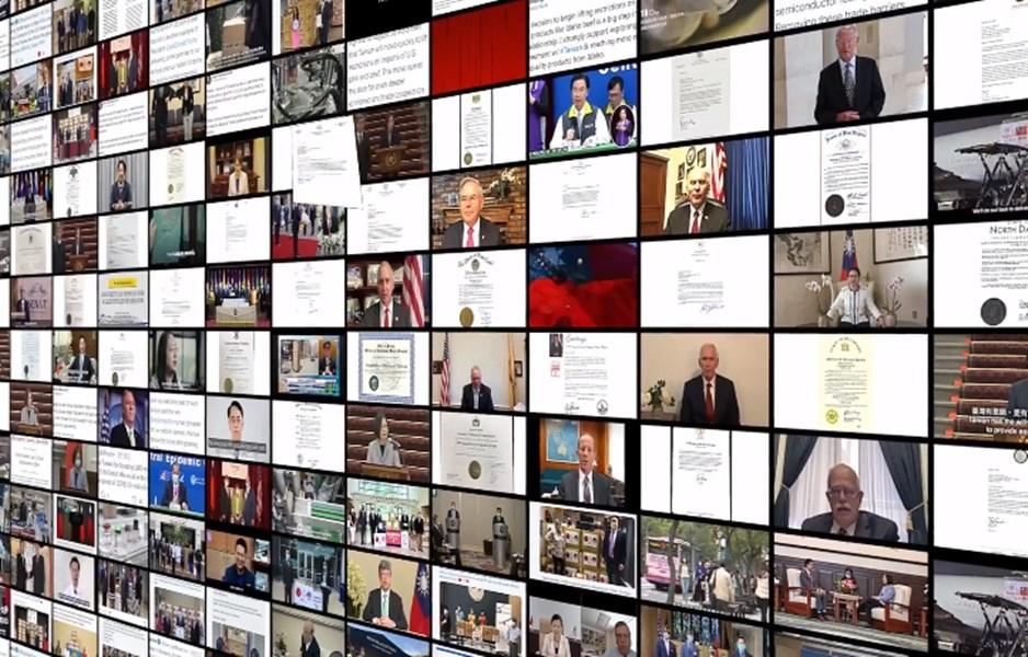 駐美代表處今年邀美國政要錄短片慶雙十。影片集結美國在台協會主席莫健與6位友台議員對台灣的祝賀,並細數美台關係今年重要里程碑。(圖取自facebook.com/TECRO.US)