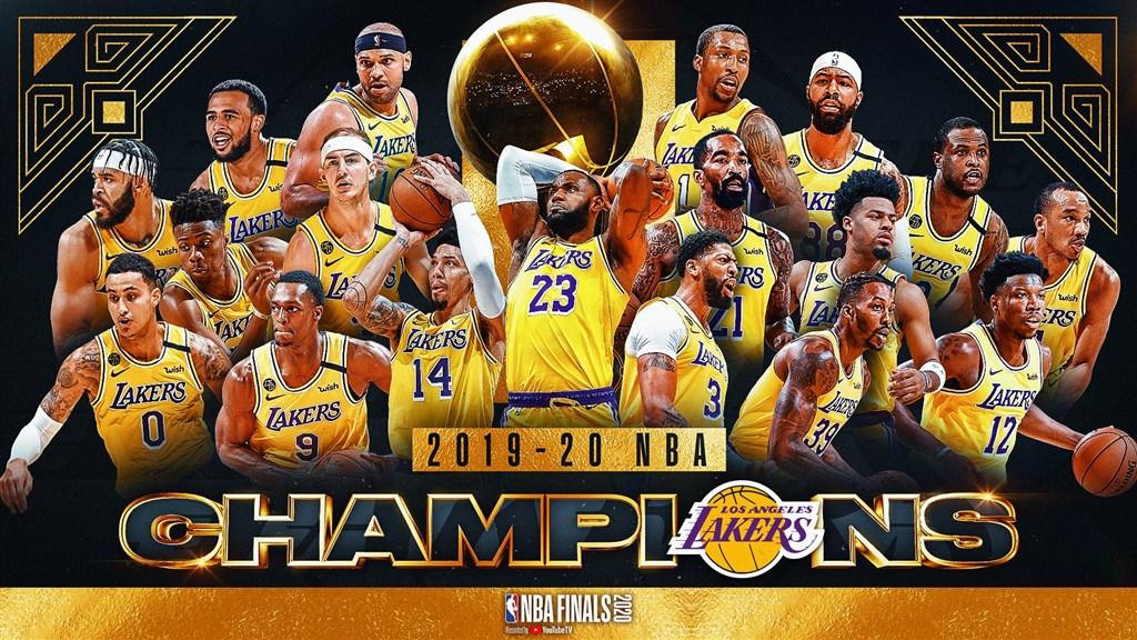 美國職籃NBA總冠軍賽,洛杉磯湖人12日在第6戰以106比93力退邁阿密熱火拿下冠軍。(圖取自twitter.com/NBA)