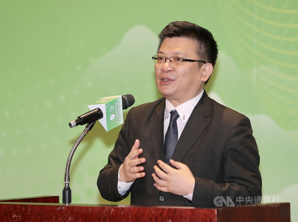 經濟部、環保署及農委會16日合辦「2020台灣循環經濟高峰會」,主題為「綠色復甦 永續未來」,經濟部次長曾文生出席致詞。中央社記者張皓安攝 109年10月16日