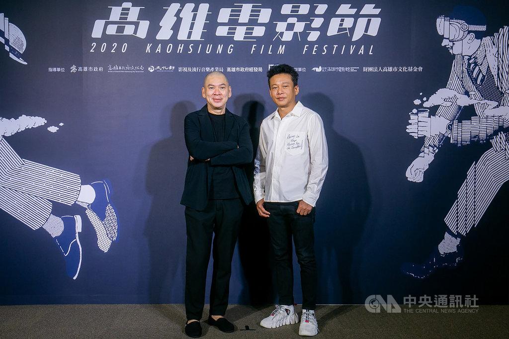 導演蔡明亮(左)執導電影「日子」17日下午在2020高雄電影節獻映,蔡明亮與演員李康生(右)合體接受媒體聯訪。(高雄電影節提供)中央社記者王心妤傳真 109年10月17日
