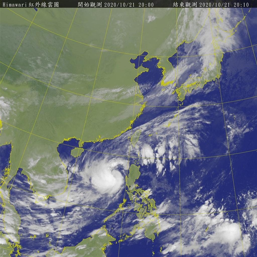 中央氣象局表示,東北風及颱風外圍環流影響,21日晚到22日晨雙北及宜蘭防豪雨,基隆、屏東、花蓮、台東等4縣市注意大雨。(圖取自中央氣象局網頁cwb.gov.tw)