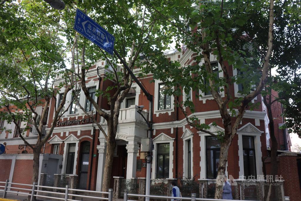 上海陝西北路的名人故居與多元文化建築十分集中,路上的法國梧桐和洋式建築也具獨特風情。圖為國民黨元老、粵軍總司令許崇智的故居。中央社記者張淑伶上海攝 109年10月25日
