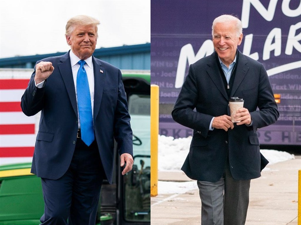 美國大選最後衝刺階段,總統川普(左)在喬治亞州民調與民主黨總統候選人拜登(右)不相上下。(圖取自facebook.com/WhiteHouse、facebook.com/joebiden)
