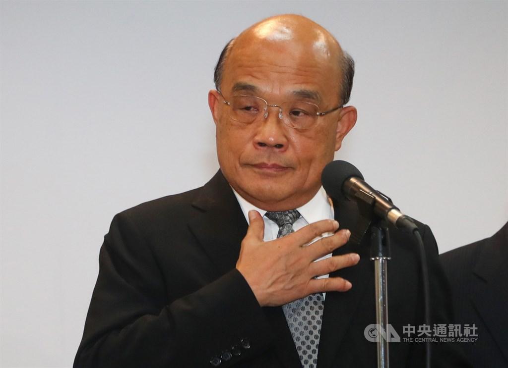 馬來西亞籍長榮大學女學生在台遇害身亡,行政院長蘇貞昌(圖)31日代表政府向被害學生家屬表達歉意。(中央社檔案照片)