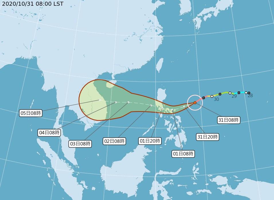 今年第19號颱風天鵝30日晚間增強為強烈颱風,從輕颱變強颱只有42小時。(圖取自中央氣象局網頁cwb.gov.tw)