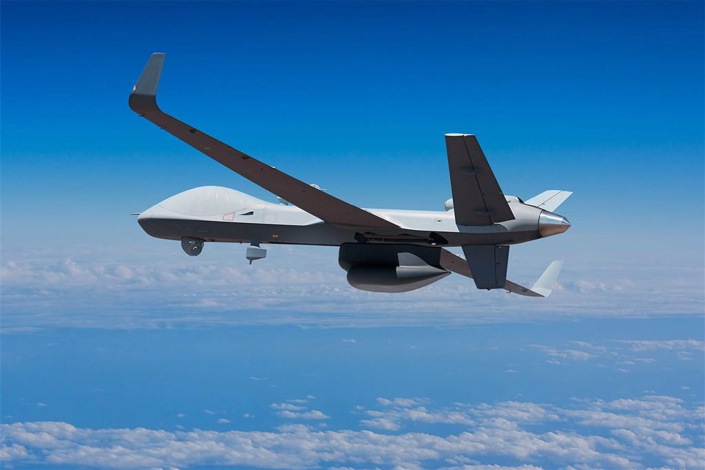 美國國防部3日宣布批准售台4架MQ-9B海上衛士無人機(圖),總額約6億美元。(圖取自通用原子航空系統公司網頁ga-asi.com)