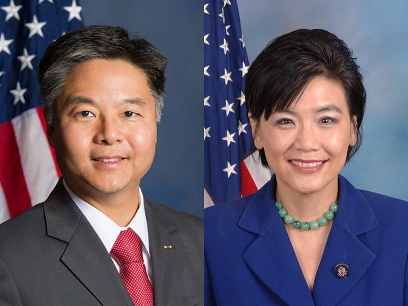 美國國會改選,加州民主黨兩名眾院台灣連線成員台裔眾議員劉雲平(左)和華裔眾議員趙美心(右)都順利連任。(圖取自維基共享資源,版權屬公有領域)