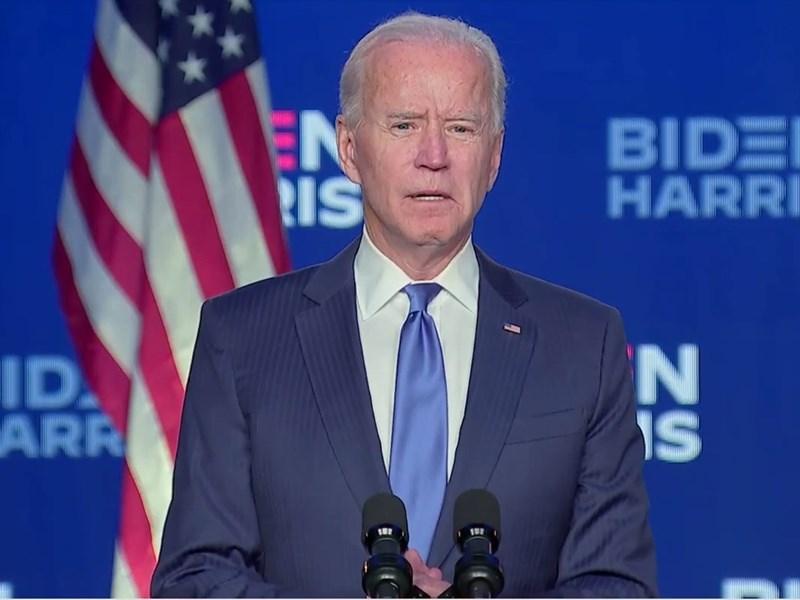 民主黨籍總統候選人拜登6日晚間發表談話,他充滿信心地說:「我們會打贏這場選戰。」(圖取自facebook.com/joebiden)