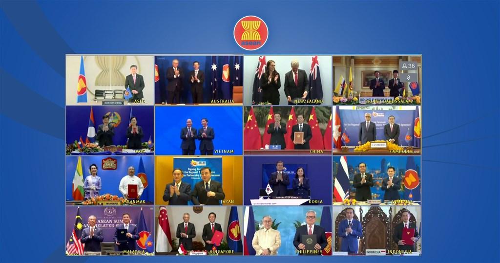 亞太15個國家15日簽署「區域全面經濟夥伴協定」(RCEP),這個以中國和東南亞國家協會(ASEAN)為主導的世界最大自由貿易協定。(圖取自東協網頁asean.org)