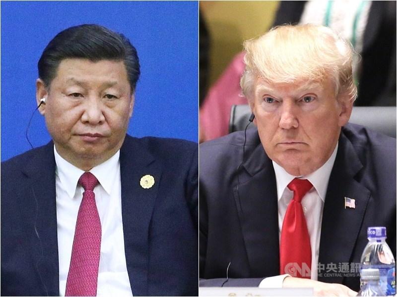 受疫情影響,APEC首度召開視訊峰會,美、中領導人難得同框,但會中並未交鋒。圖左為中國國家主席習近平、右為美國總統川普。(中央社檔案照片)