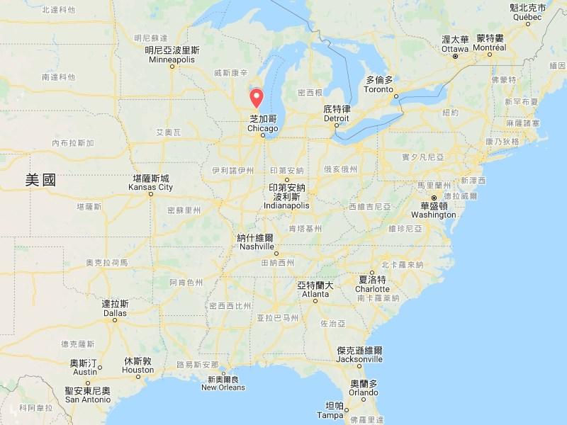美國威斯康辛州一處購物中心20日發生槍擊案,至少有8人受傷,傷者已送醫治療。(圖取自Google地圖網頁google.com/maps)