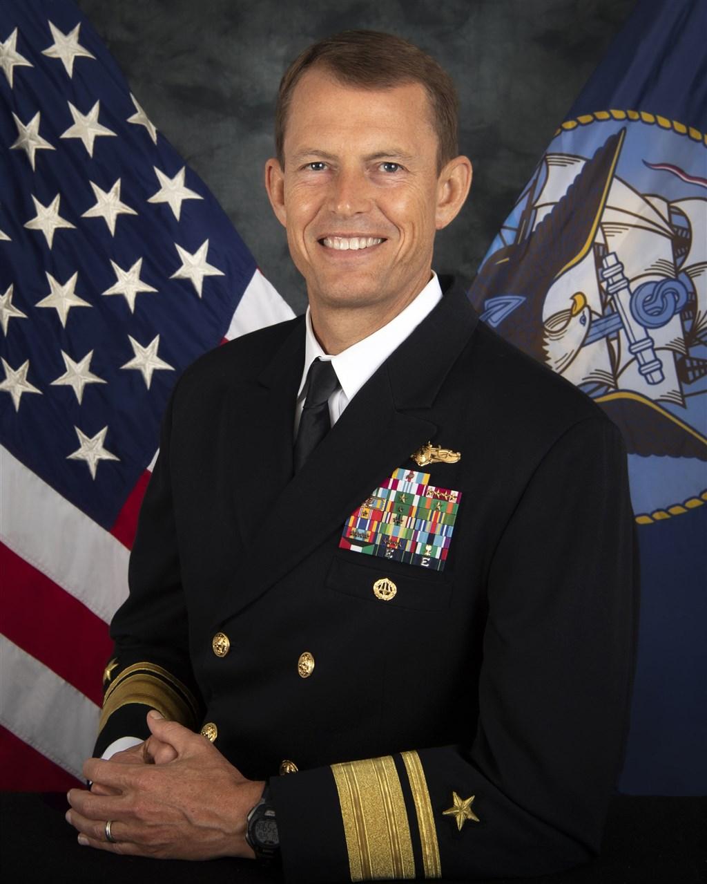 路透社引述兩名消息人士說法指出,負責美國在亞太地區軍事情報的海軍少將史都德曼低調來台灣訪問。(圖取自美國海軍網頁www.navy.mil)