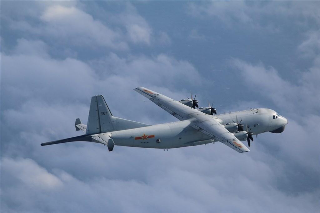 空軍25日發布共機動態,共軍1架運8反潛機侵犯台灣西南防空識別區。(圖取自國防部網頁mnd.gov.tw)