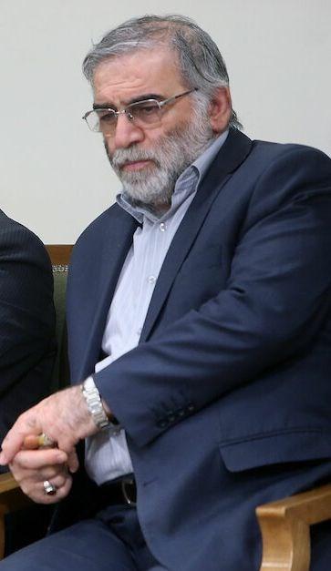 伊朗最重要核子科學家法克里薩德(圖)27日遭刺殺身亡後,伊朗武裝部隊參謀長巴格瑞警告,將對幕後策劃攻擊者施以「嚴厲報復」。(圖取自伊朗最高領導人哈米尼辦公室網頁english.khamenei.ir)