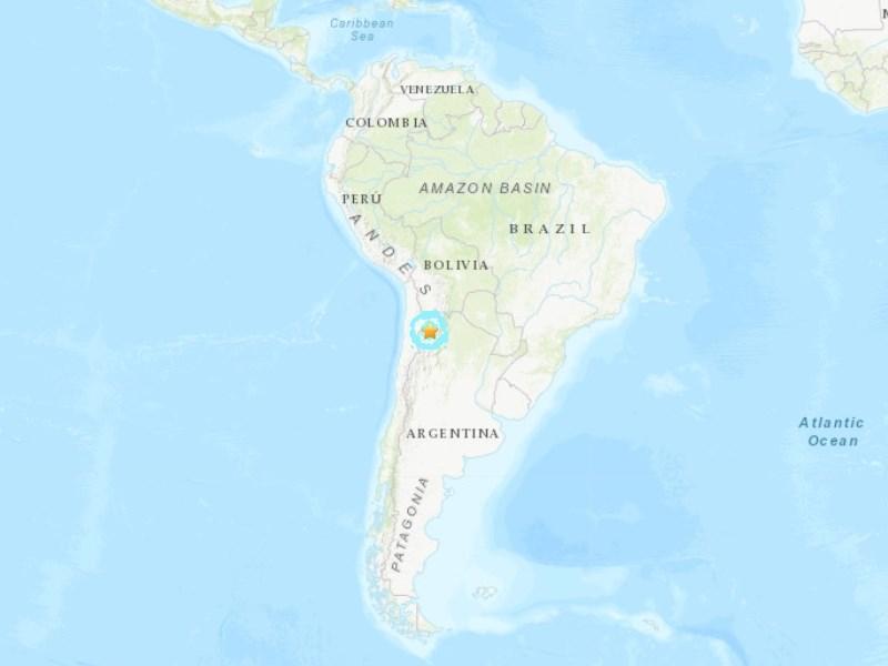 智利與阿根廷邊界11月30日發生地震,根據美國地質調查所測報地震規模為6.3。(圖取自美國地質調查所網頁earthquake.usgs.gov)
