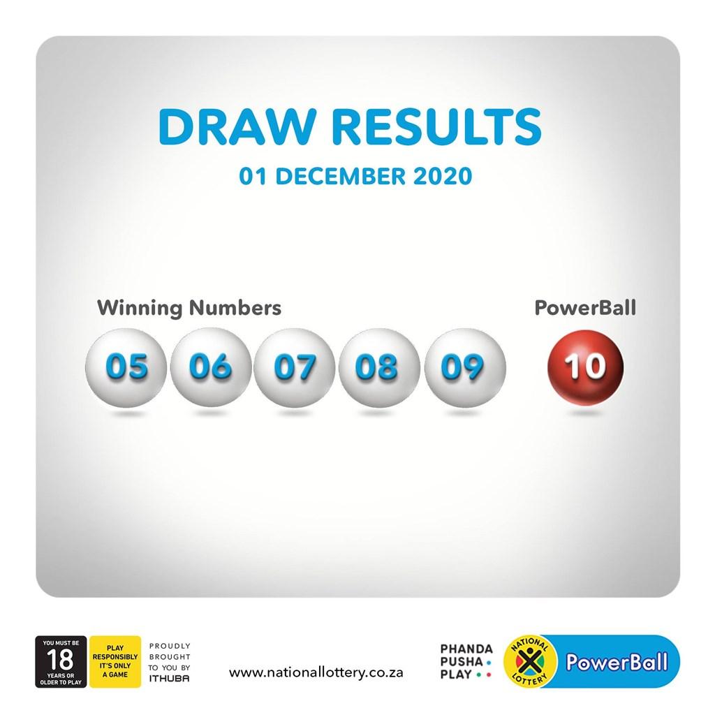 南非威力球1日開出頭獎號碼5,6,7,8,9與特別號10,讓20名分享獎金的幸運兒瞬間成為千萬富翁。(圖取自facebook.com/SouthAfricanNationalLottery)