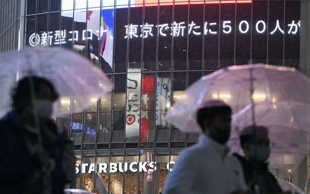 日本境內武漢肺炎疫情持續升溫,東京2日單日新增500例。(共同社)