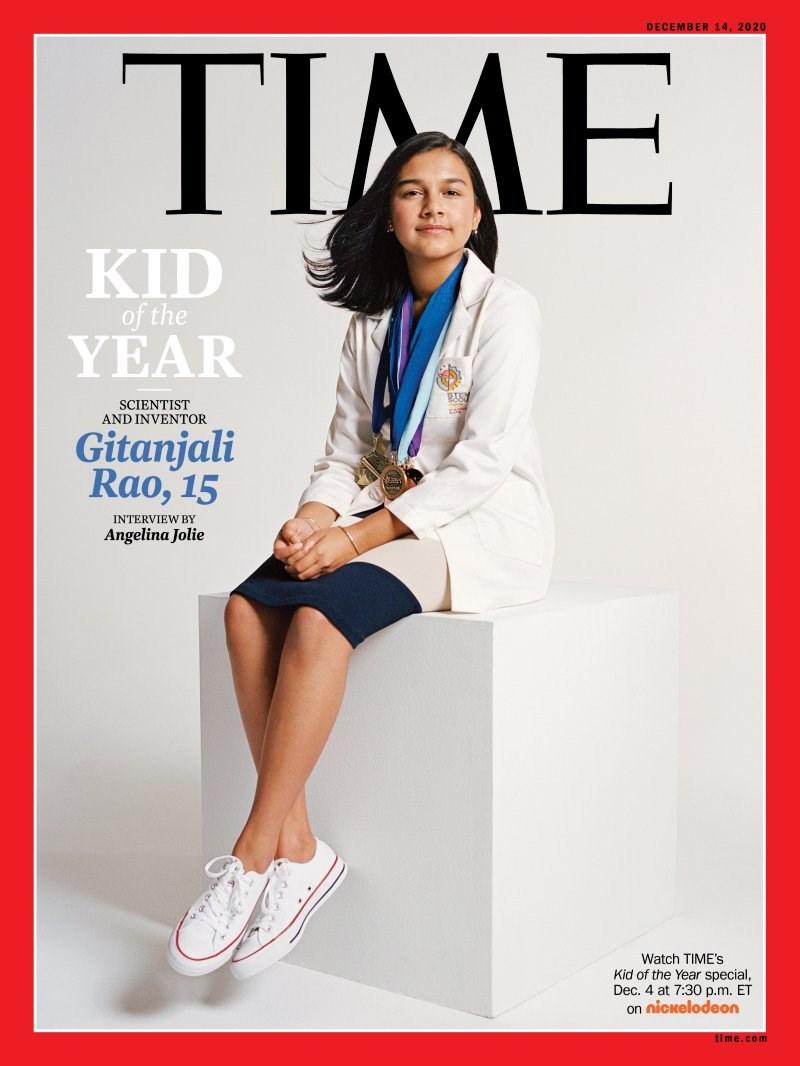 美國15歲印度裔科學家暨發明家拉奧,獲選時代雜誌首位「年度風雲兒童」。(圖取自時代雜誌網頁time.com)