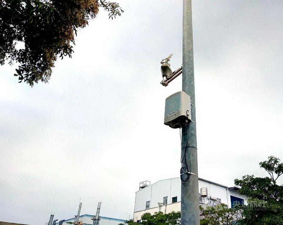 台南市為監控空氣品質,已裝設900台微型感測器,預定110年再新設500台並擴充監測項目,建立「空氣品質感測物聯網」。(台南市政府提供)中央社記者張榮祥台南傳真 109年12月4日