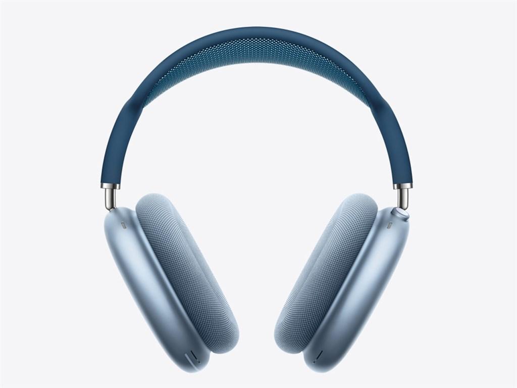 蘋果公司(Apple)8日發表AirPods Max耳罩式無線耳機,台灣售價新台幣1萬8490元。(圖取自蘋果網頁apple.com)